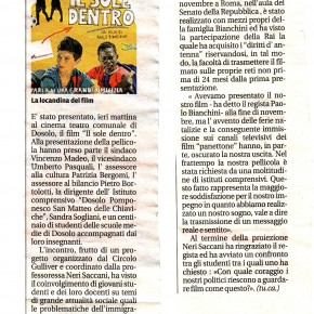 """Da: """"La Voce di Mantova"""" Il Sole dentro"""