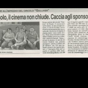 """""""Dosolo, il cinema non chiude. Caccia agli sponsor"""""""