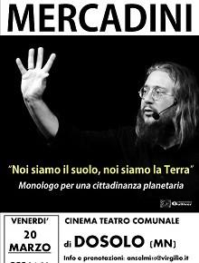 """Roberto Mercadini """"Noi siamo il suolo, noi siamo la terra"""""""